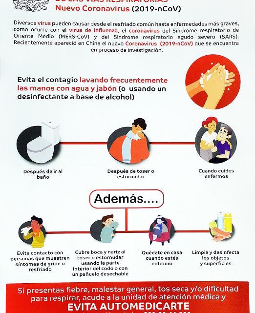 EN MÉXICO NO HAY MOTIVO DE ALARMA POR EPIDEMIA DE LA COVID-19