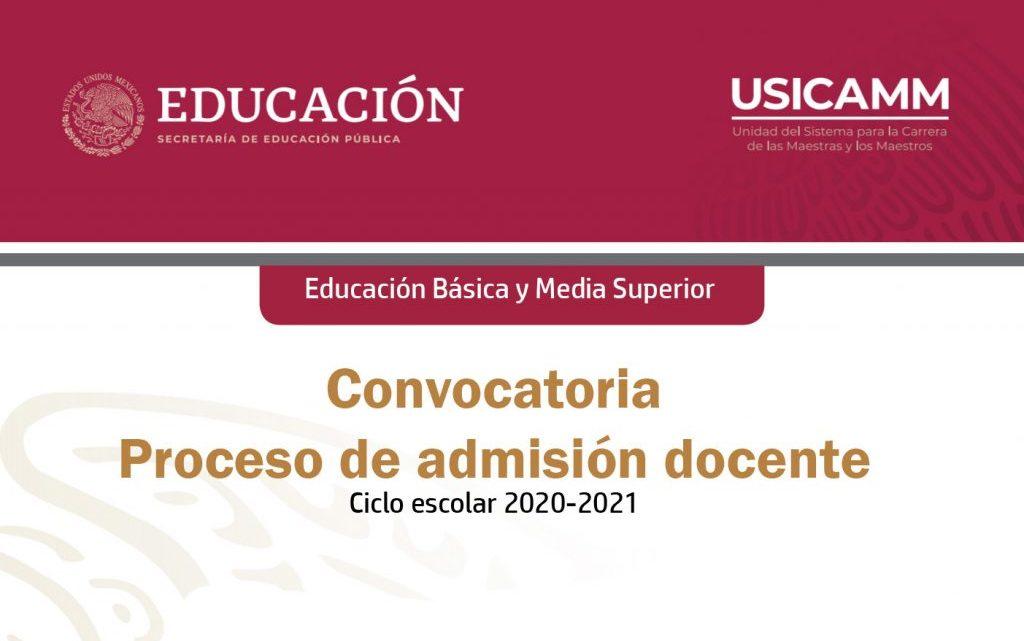 CONVOCATORIA DE ADMISIÓN PARA EL NIVEL SUPERIOR 2020-2021