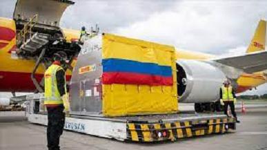 COLOMBIA RECIBE LAS PRIMERAS VACUNAS QUE LLEGAN A LAS AMÉRICA