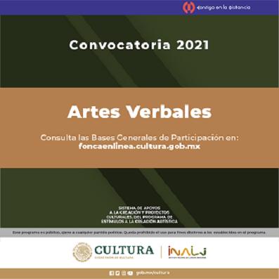 CONVOCATORIA DE ARTES VERBALES 2021