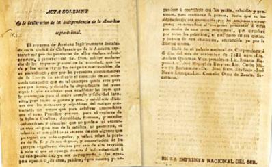 LA PRIMERA ACTA DE INDEPENDENCIA DE MÉXICO SE PUBLICÓ…EN TEXAS